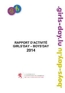 Rapport d'activité du Girls' Day- Boys' Day 2011